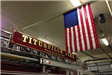 American Flag Hanging in the Fire Station