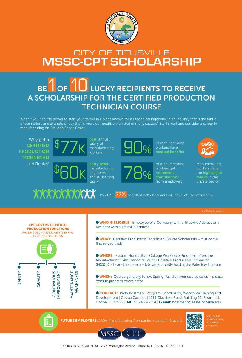 MSSC-CPT Scholarship Poster