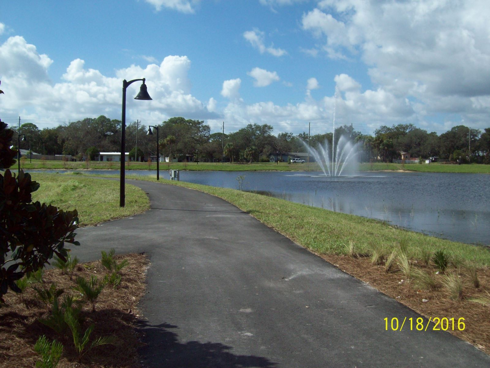 Draa Field Stormwater Park fountain