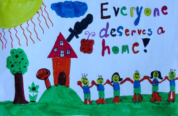 Everyone Deserves a Home Watercolor