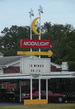 Moonlight Monument Sign