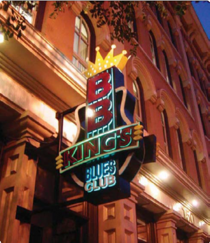 BB King Blues Clubs Sign