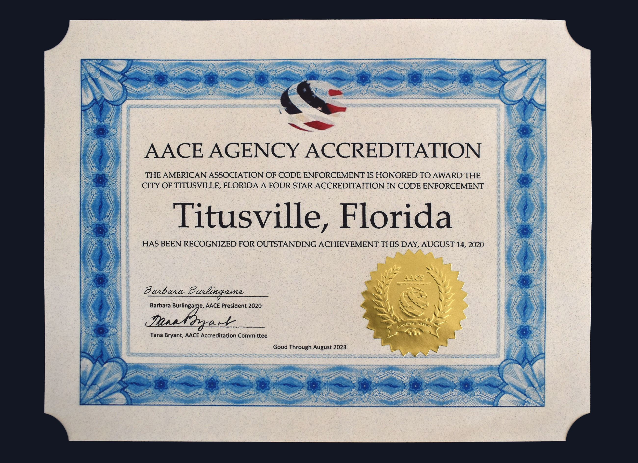 CODE ACCREDITATION CERT