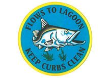 Flows to Lagoon - Keep Curbs Clean