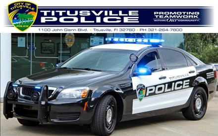 Titusviille Police Vehicle Promoting Teamwork