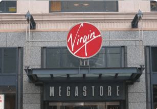 Virgin Megastore Wall-Mounted Sign