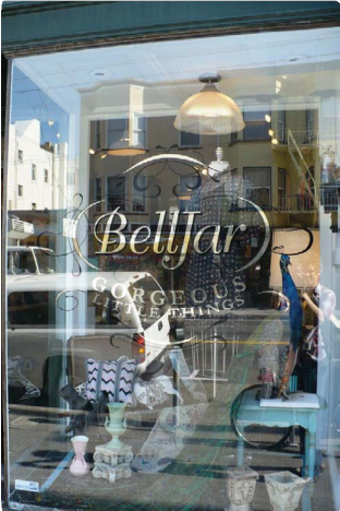 BellJar Window Sign