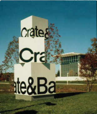 Crate and Barrel Monument Sign