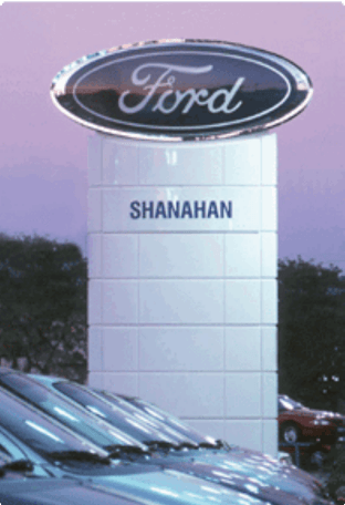 Shanahan Ford Monument Sign